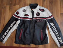 Geaca mototeam frontline ,model vintage,piele ,XXL