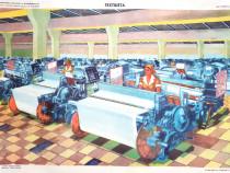 Afis / poster didactic perioada comunista - Textilista