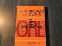 Brevier clinic de oto rino laringologie Dorin Sarafoleanu