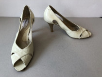 Pantofi peep toe Passo Doble originali, noi, din piele natur
