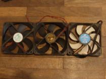 3 bucati ventilator 120mm 2x 12v + 1x PWM