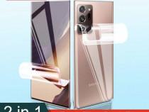 Samsung note 20 / 20 ultra folie curbata silicon fata spate