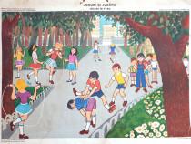 Afis didactic vechi Jocuri si Jucarii - Jocuri in Parc