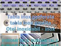 Tabla decorativa perforata gaurita sita otel inox aluminiu