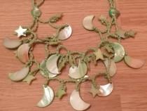 Colier verde semiluna si stelute