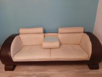 Canapea fixă, piele ecologocă