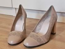 Pantofi dama noi din piele naturala marimea 39