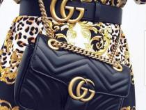 Set Gucci(geanta si curea)new model logo auriu/Itali