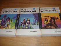 Karl May - Winnetou ( 3 volume, editia 1967, rara )