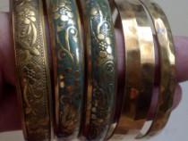 5 bratari vintage din alama, handmade, deosebite