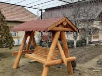 Balansoar Rustic din Lemn, Balansoar Lemn pentru Gradina