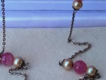 Colier cu quart roz