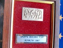B876-I-Miniatura Italia argint 800-Gruppo ANZIANI FIAT.