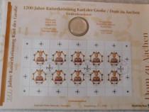 Moneda argint 10 DM + colita timbre Numisblatt 1/2000