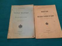 Lot 2 broșuri: taxele militare 1910/ decret lege declararea