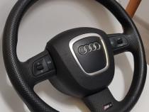 Volan Audi RS4 B7 piele perforata original(nu s line nu A4)
