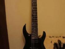 Chitara electrica cu 8 corzi, Harley Benton R-458 BK Prog