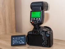Canon EOS 650D + Tamron SP 17-50mm f/2.8 + bliț Pixel X800C