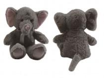 Elefant de plus cu fundita, culoare gri, 60 cm, nou, cadou