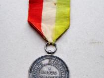 B934-I-Medalia veche Al Merito Lanzo Torinese Scuoli Municip