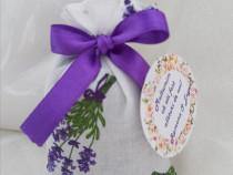 Săculeți (mărturii) cu floare de lavandă uscată