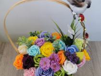 Aranjamente flori sapun la comanda