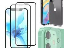 Iphone 12 MINI PRO MAX Husa Silicon Folie Sticla Folie Camer