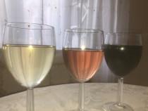 Vin alb, rose si negru