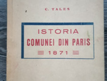 Carte veche c tales istoria comunei din paris