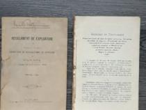 Carte veche regulament de exploatare pe dunare 1900