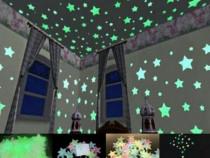 Nou SET 30 Steluțe verzi fosflorescente pentru tavan camera