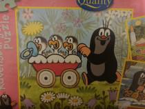 Puzzle 2*49 piese cartita și puii de vultur