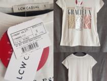 Tricou nou alb cu imprimeu