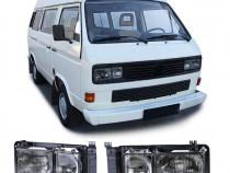 Far faruri patrate duble fumurii VW Bus Transporter T3 NOU