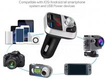 Modulator FM cu funcție Bluetooth și încărcător auto