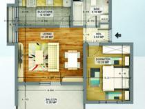 Apartament 2 camere zona militari residence  61mp