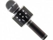 Microfon tip wireless fara fir cu sistem karaoke si suport