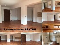 Apartament 3 camere zona Teatru et,1/2.