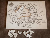 Puzzle educativ din lemn - Harta României