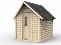 Mini sauna Casa mobila din lemn de vacanta