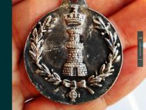 Breloc argint regiment geniu Spania 1978