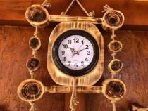 Ceas rustic din lemn