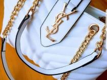 Geanta Ysl ,logo metalic auriu, new model