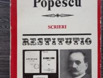 Spiridon popescu scrieri seria restututio