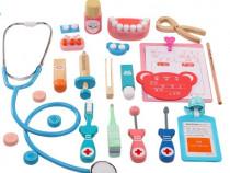 Joc set dentist din lemn, micul stomatolog (3+ ani)
