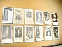 C82L-Semne carte religioase vechi litografice carton 1900.