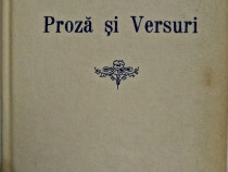 Mihai Eminescu - Proza si versuri, editor V.G. Mortun, 1990