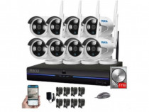 Kit wireless 8 camere IP + HDD 1TB, NVR 8 canale AK9528H