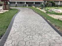 Pret beton amprentat in judetul Gorj si Targu Jiu