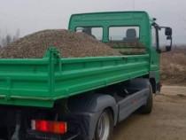 Transport nisip sort piatra balastru